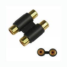 1pc RCA Female to Female Coupler Plug Audio Video AV Cable Adaptor RCA Joiner