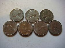 New listing Lot of 7 Nickels U.S five cent Coins nice mixture #9621