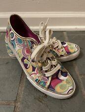 Coach Poppy Dee Multicolored Women's Tennis Shoes Sneakers Size 5 EUC