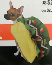 TACO Halloween Dog Pet Costume  1 PC Size LARGE Cinco De Mayo Mexican Food