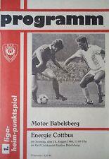 Programm 1984/85 Motor Babelsberg - Energie Cottbus
