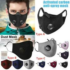 US Face Mask Reusable Washable Anti Pollution PM2.5 one/two Air vent W/ Filter