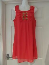PINK Tunic Dress by Atmosphere Smock Shift with Gold Detail UK Size 12