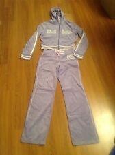 Justice Limited Too Velour Jogging Outfit Set Jacket Pants size L Purple
