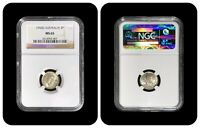 1943-D Australia Threepence - NGC MS 65 - KM# 37 - Denver WWII Silver Top 25