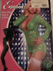 Long Sleeve merry widow and G string set sexy lingerie sexy sleepwear