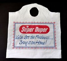 "Vintage ""Super Duper"" Shopping Bag"