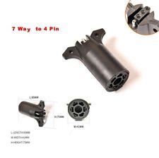 USA Standard Car Flat Trailer Adapter 7-Pin To 4-Pin Trailer Wiring Plug Adapter