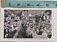 Vtg DENVER BUCKHORN PIONEER LODGE Dining Room INTERIOR POSTCARD ~ Ships FREE