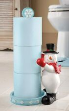 Christmas Festive Holiday Snowman Toilet Paper Holder.