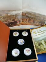 2008 TUVALU $1 EARLY GOVERNORS OF AUSTRALIA 1oz SILVER PROOF 5 COIN COLLECTION