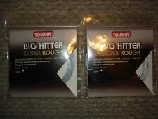 TWO (2) Tourna Big Hitter Silver Rough 16 Gauge Tennis Strings Brand NEW
