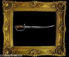 """EUROPEAN IRON-HILTED HANGER-CUTLASS SWORD 1700-1730 & 21"""" ARMORER'S MARK W/ COA"""