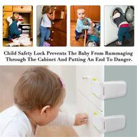 4X Cabinet Drawers Locks Child Safety Baby Proofing Latch Kitchen Storage Doors