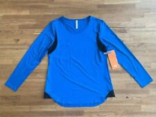 Lucy Women's Light Speed Long Sleeve Active Top in Imperial Blue Size M - NEW