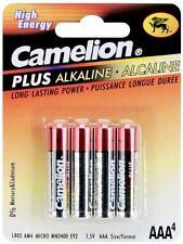 "4 Pack Camelion Plus Alkaline High Energy ""AAA"" Battery 4 Pk Each"