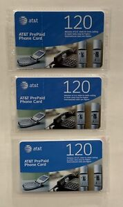 AT&T Prepaid Phone Cards (3 Pack) - New! - 360 Total Minutes