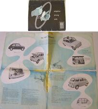 Gamma FIAT 600 MULTIPLA 1100 1400 1900 B 1956 BROCHURE ORIGINALE cattive condizioni