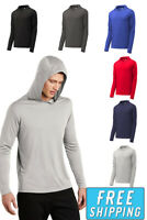 Sport Tek Moisture Wicking Hooded Long Sleeve DriFit Tee