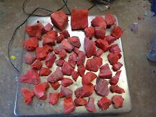 Glass Rock Slag Pretty Opaque Red 4.0 lb Rocks Gg77 Landscaping Aquarium