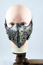 Hip-Hop Punk Gothic Cosplay Rock Style STUD Leather Face mask Motorcycle Mask