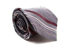 Langevin's Tie Gray Multi Color Stripe Necktie 56 x 3 New