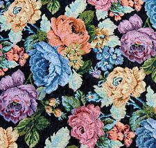 Gobelinstoff Meterware 1,5 m Breite Gobelin Stoff Jacquard Dekostoff Rose Blumen
