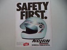 advertising Pubblicità 1982 CASCO HELMET NOLAN N 32 N32