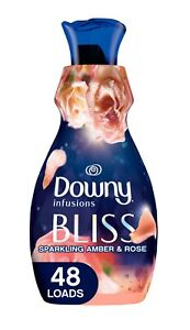 Downy Infusions Liquid Fabric softener, Bliss, Sparkling Amber & Rose 32 Fl Oz
