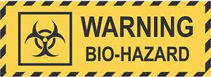 Warning BIO HAZARD Danger Safety Vinyl Sticker Tag Product