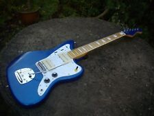 JAZZMASTER GUITAR  CUSTOM BUILD -PROJECT-ELECTRIC BLUE - B & B NECK - FREE P&P