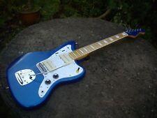 JAZZMASTER chitarra Custom Build-Progetto-BLU ELETTRICO-B & B collo-GRATIS P&P