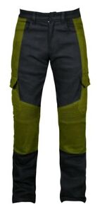 New Mens Stretch cargo motorbike Motorcycle WATER REPELLANT jeans with kevlar