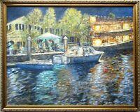 Fort Lauderdale FL Original Oil Painting Landscape Framed 24x30 Signed Fine Art