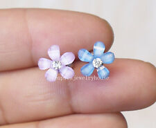 2pcs Cute small flower cartilage barbell Upper Ear Ring piercing Fashion Jewelry