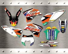 Kit Completo Grafiche Ktm Exc Exc-f 2008 - 2011 Sx Sx-f 2007 - 2010 Originali