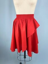 Vintage Skirt Red Western Collection XL Extra Large Ruffle Square Dance 80s