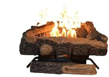Oakwood 24 in. Vent Free Natural Gas Fireplace Logs Adjusting Flame Easy New