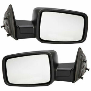 FITS FOR DODGE RAM TRUCK 2009 2010 2011 2012 MIRROR MANUAL RIGHT & LEFT PAIR SET