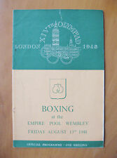 More details for 1948 london olympics boxing finals programme 13th august *good condition*