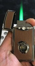 Apple  Sign  Cigarette Lighter Green Jet Flame With 3 Stone Uk Seller