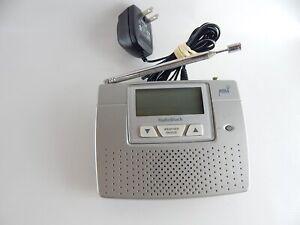 Radio Shack Weather Radio NOAA With Alarm Clock 12-260 Public Alert Messages
