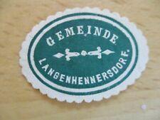 (23990) Siegelmarke - Gemeinde Langenhennersdorf
