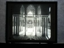 VINTAGE COLLECTIBLE GLASS PICTURE NEGATIVE Court of Lions Alhambra Granada Spain