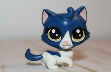{Littlest Pet Shop} Lps #39 Cute Blue White Munchkin Cat Kitty Euc Ships Free Us