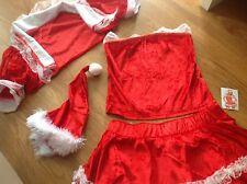 5 Piece  Costume Christmas Santa Dress Size 8 Ladies  Brand New