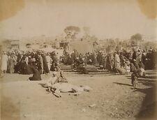 Marché à Boulac Egypte Vintage albumine ca 1875