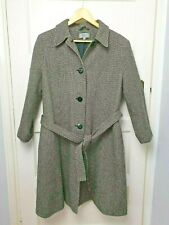Marks and Spencer Ladies Coat Wool Rich Blend Size UK18 Tie Belt Black and White