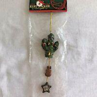 Kurt Adler Cactus Xmas Tree Ornament Christmas Santa Frosty Sleigh Twinkle