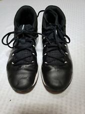 Youth Boy's Under Armour Basketball Shoes Black White Sz 6Y